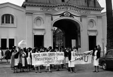 Manifestación de profesionales de la salud en Hospital Barros Luco
