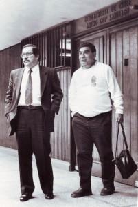 Wladimir Aguilera director del Fortín junto al redactor de deportes Hernán (chamullo) Ampuero.